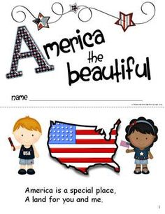 America, the Beautiful - An Introduction to American Symbols - Fluttering Through First Grade - TeachersPayTeachers.com
