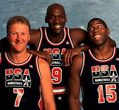 Larry Bird, Michael Jordan & Magic Johnson - on the 'Dream Team.'