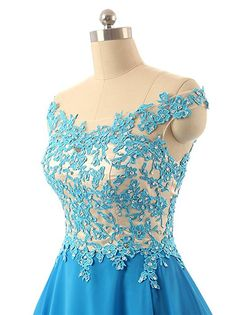 FNKS Women's Straps Lace Bodice Short Prom Gown Homecoming Party Dress Blue US 2