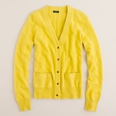 j. crew dream cardigan in heather buttercup (also loving the clementine and dark poppy!) $85