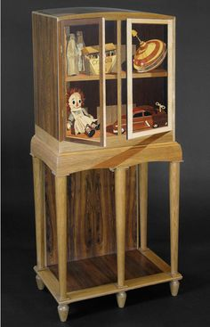 Gallery Henoch artist Silas Kopf creates marquetry furniture and artwork that display an inventive balance of historical sensibility and infectious humor. Studio Furniture, Furniture Design, Furniture Making, China Cabinet, Craftsman, Woodworking, Storage, Type 1, Gallery