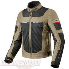 REV'IT TORNADO 2 SAND BLACK JACKET - Chromeburner