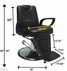 Tuxedo Barber Chair, Reclines, Rotates and Locks for shaves #CG021