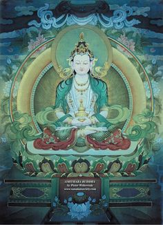 Amithaba Buddha by Pieter Weltevrede - http://www.sanatansociety.com/artists_authors/aa_pieter_weltevrede.htm