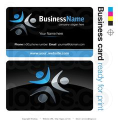 378 best free business cards templates images on pinterest free very powerful royalty 3d business card vector free design with blue teamwork icon as company flashek Gallery