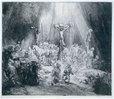 Rembrandt.  See Rembrandt's complete series of Christ's sacred crucifixion, death and glorious Resurrection.