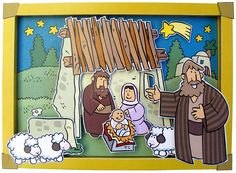 color and cut out 3-D pictures of Bible stories