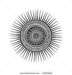 mayan sun symbol  Símbolo del sol maya