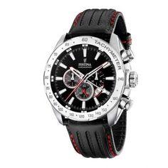 Ανδρικό ρολόι FESTINA F16489/5 με χρονογράφο ταχύμετρο, 24ωρη ένδειξη, ημερομηνία, μαύρο καντράν με μαύρο δερμάτινο λουρί | ΤΣΑΛΔΑΡΗΣ στο Χαλάνδρι #Festina #μαυρο #λουρι #ρολοι Audemars Piguet, Messi, Safari, Herren Chronograph, Junghans, Casio Watch, Luxury Watches, Fashion Watches, Bracelet Watch