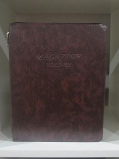 Magazine Folder with zipper in Brown - K. GRANT PUBLISHING