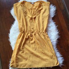 Trixxi Dark Yellow Dress Cute Trixxi Dress from Macy's. Good condition! Small belt loops, no belt. Trixxi Dresses Mini