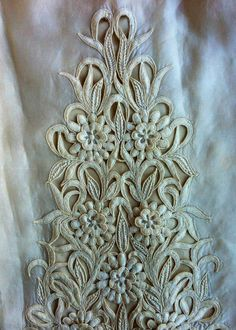 Beautiful embroidery from 1960's wedding dress. Love!