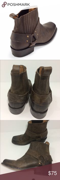 Anthropologie Dolce vita ankle boots Dolce vita wilix distressed leather ankle boots. Used but still in good condition. Motorcycle inspired ladies boot. Great for summer riding!! Anthropologie Shoes Ankle Boots & Booties