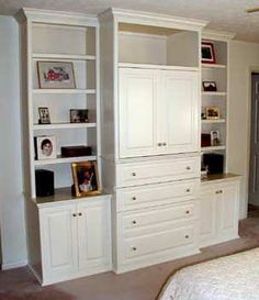 built in tv /bedroom storage unit (with antique paint finish