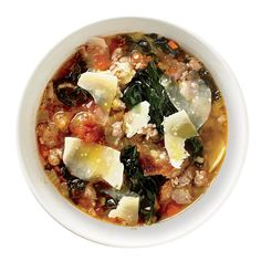A classic ribollita is cooked one day, then reheated and served the next. To do that, just hold back the last croutons so they keep their crunch.