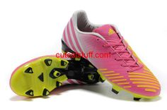 Adidas Predator LZ TRX FG Boots Pink Yellow White Black     #Red  #Womens #Sneakers