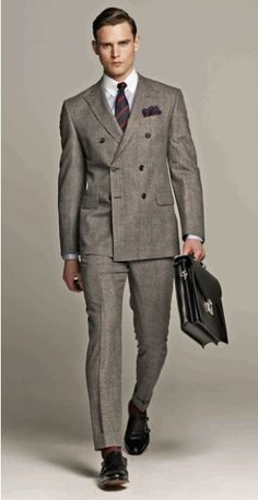 The Men Suit for Spring/Summer: The Double-Breasted Suit Lookbook ...