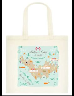 25 Custom Printed Wedding Guest Canvas Tote By Sixpencepress 112 50 Pinterest Maui Hawaii Bags And