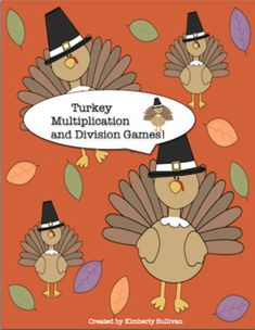 This free product has 2 games, Turkey Multiplication and Turkey Division! Both review multiplication and division facts. Students will move around the turkey game board, choose cards, and review basic facts! Fun and engaging! Thanksgiving Theme! Each game has 24 cards.