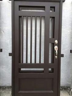 Ideas for Entrance Door Sheet Metal # Door Door Grill, Grill Door Design, Main Door Design, Steel Gate Design, Iron Gate Design, Metal Gates, Wrought Iron Doors, Metal Doors, Steel Doors And Windows