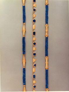 GHK designs in Gold and Lapiz lazuli