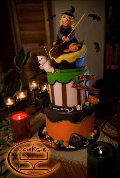 Halloween-themed cake