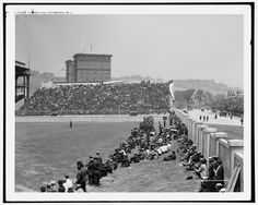 1910s forbes field, pittsburgh. berm seating.