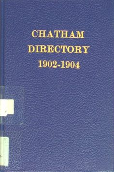 Vernon's city of Chatham street, alphabetical, business, and miscellaneous directory for the years 1902 to 1904