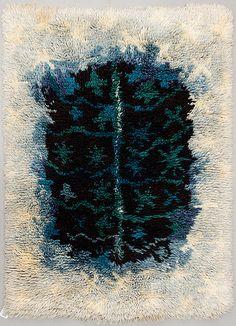 Viola Gråsten rya Skog Floor Cloth, Floor Rugs, Rya Rug, Rugs On Carpet, Carpets, Textiles, Tapestry Design, Woven Wall Hanging, Rug Hooking