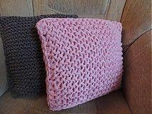 Úžitkový textil - Ružový vankúšik - 3765315_