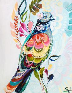 Poised, arte, pintura, birds, pajaros, colores, innovador, creative, creativo, hermoso, óleo