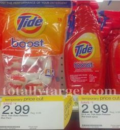 FREE Tide Boost Duo Packs at Target! Get your inserts ready!