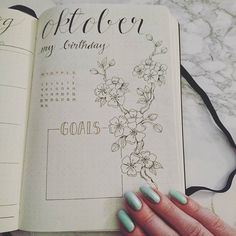 Preparing the base layout for the whole year and today I got to October, my month and I just love how it turned out #bulletjournal #bulletjournaling #bujo #leuchtrum1917 #journal #planner