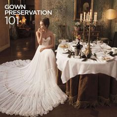What do you do with your wedding dress when the day is over? Read about Wedding Gown Preservation 101