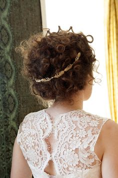 Bridal Hair vine in silver or gold beautiful wreath style