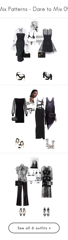 """""""Mix Patterns - Dare to Mix 09"""" by canlui ❤ liked on Polyvore featuring Bardot, Caroline Constas, RED Valentino, Norma Kamali, Balenciaga, Gianvito Rossi, Jimmy Choo, Dolce&Gabbana, Dunn and Azzaro"""