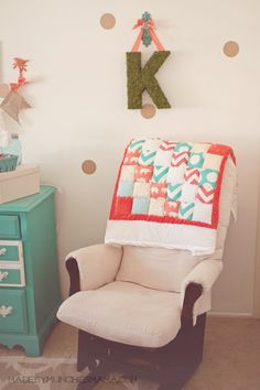 Kennedy's Mint and Coral Nursery Reveal