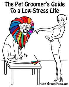 The Pet Groomer's Guide to a Low-Stress Life e-book is available at https://gumroad.com/l/JdxPg