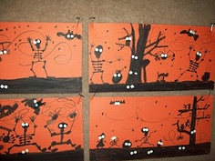 Art at East!: 3rd Grade Halloween Silhouette Pictures