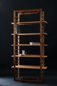 Designs by Robert Barnby Walnut Shelves, Bookcase Shelves, Wood Shelves, Shelving, Shelf, Woodworking Furniture, Wooden Furniture, Cool Furniture, Woodworking Projects