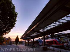 Abendrunde in #Iserlohn. #Bahnhof #Stadtbahnhof #Sonnenuntergang #Sauerland #Bahn