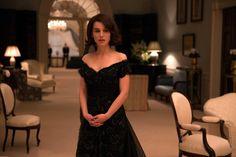 Jackie o style black dress makes