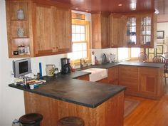 natural cherry cabinets kitchen - Google Search