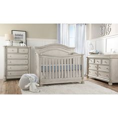 Bring style and sophistication to your little one's nursery decor with the Charleston Crib from Kingsley. As your baby grows, this versatile crib converts to a toddler bed, day bed, and finally, to a full-size bed. Baby Nursery Themes, Nursery Crib, Nursery Room Decor, Budget Nursery, Safari Nursery, Girl Nursery, Nursery Ideas, Girl Room, Room Ideas