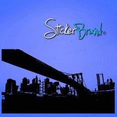 Vinyl Wall Decal Sticker Brooklyn Bridge New York NYC Wall - Custom vinyl decals brooklyn
