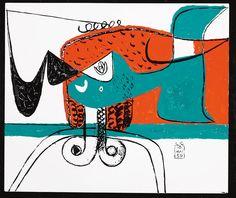 Figure composition, 1959, Le Corbusier. Estimate: $52,415–$59,110.
