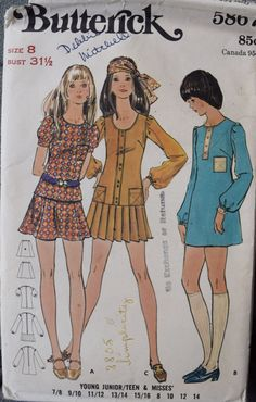 Early 1970's Butterick 5867 Vintage Sewing Pattern by PatternPopUp