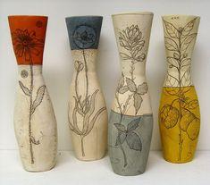 Love these botanicals Diana Fayt ceramics vases