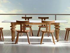 Table rectangulaire en chêne INOUT 733 by Gervasoni design Paola Navone