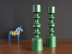 Lovely Swedish Wooden Candle Holders